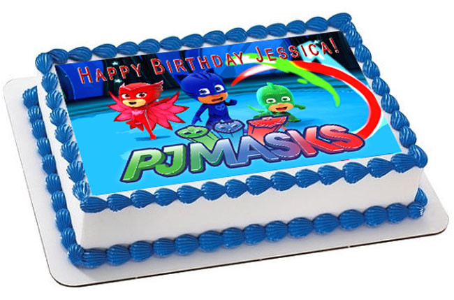 PJ MASKS 2 Edible Birthday Cake Topper