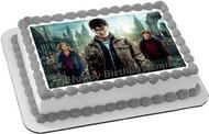 Harry Potter Edible Birthday Cake Topper OR Cupcake Topper, Decor