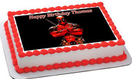 Deadpool Edible Birthday Cake Topper OR Cupcake Topper, Decor