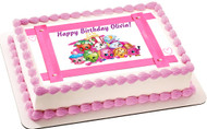SHOPKINS 4 Edible Birthday Cake Topper OR Cupcake Topper, Decor