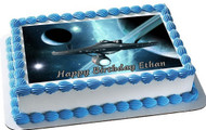 Star Trek Edible Birthday Cake Topper OR Cupcake Topper, Decor