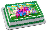 Barbie in Princess Power - Edible Cake Topper OR Cupcake Topper