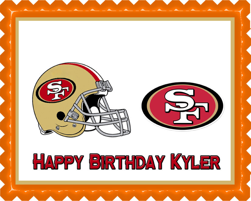 San Francisco 49ers Edible Birthday Cake Topper