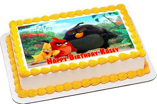 Sensational The Angry Birds Movie Edible Birthday Cake Topper Funny Birthday Cards Online Fluifree Goldxyz