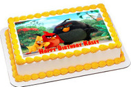 The Angry Birds Movie Edible Birthday Cake Topper OR Cupcake Topper, Decor