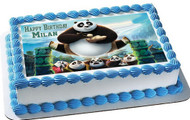 Kung Fu Panda 3 Edible Birthday Cake Topper OR Cupcake Topper, Decor