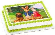 Peter Rabbit Edible Birthday Cake Topper OR Cupcake Topper, Decor