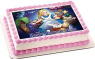 Alice in Wonderland Edible Birthday Cake Topper OR Cupcake Topper, Decor