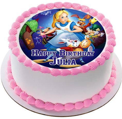 Alice In Wonderland Edible Birthday Cake Topper