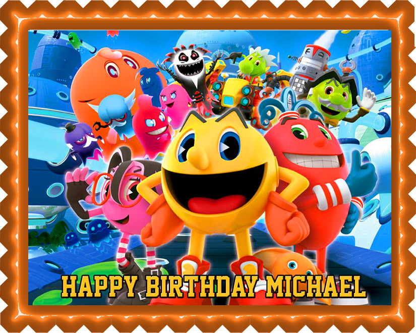 Awesome Pac Man And The Ghostly Adventures Edible Birthday Cake Topper Funny Birthday Cards Online Alyptdamsfinfo