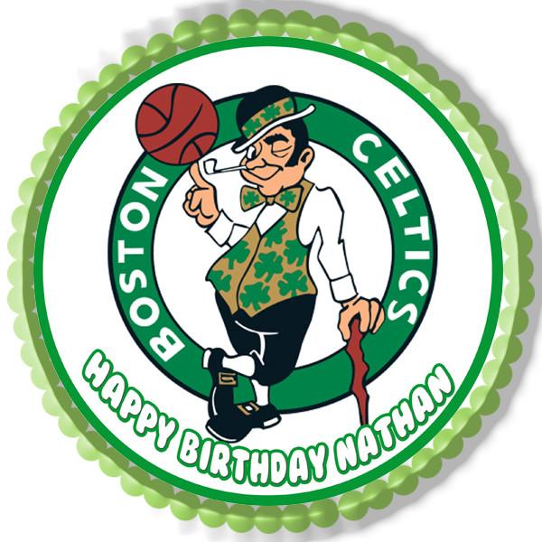 Boston Celtics Edible Birthday Cake Topper