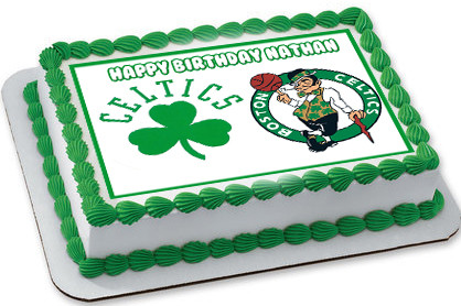 Boston Celtics Edible Birthday Cake Topper