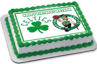 Boston Celtics Edible Birthday Cake Topper OR Cupcake Topper, Decor