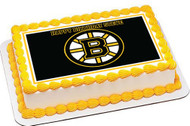 Boston Bruins Edible Birthday Cake Topper OR Cupcake Topper, Decor