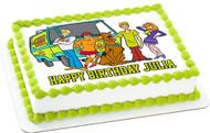 Scooby-Doo Edible Birthday Cake Topper OR Cupcake Topper, Decor