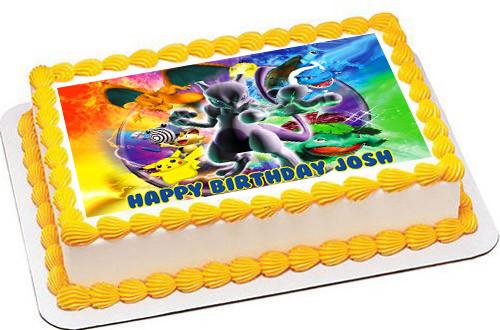 Outstanding Pokemon Stadium Edible Birthday Cake Topper Funny Birthday Cards Online Eattedamsfinfo