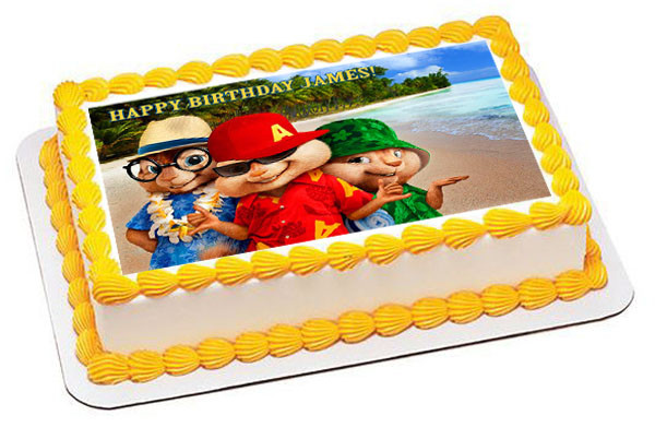 Excellent Alvin And The Chipmunks Road Chip 3 Edible Birthday Cake Topper Funny Birthday Cards Online Alyptdamsfinfo