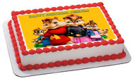 ALVIN AND THE CHIPMUNKS ROAD CHIP (Nr4) - Edible Cake Topper OR Cupcake Topper