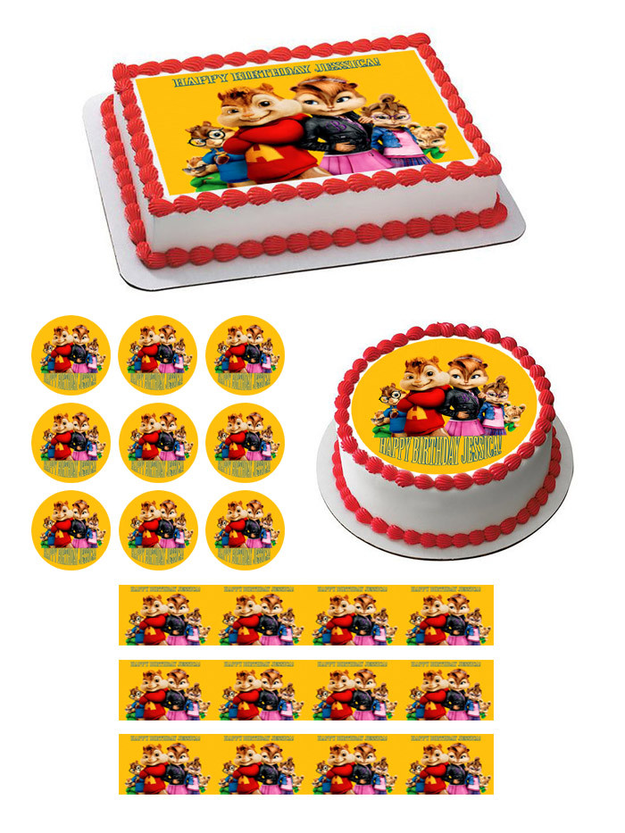 Fabulous Alvin And The Chipmunks Road Chip 4 Edible Birthday Cake Topper Funny Birthday Cards Online Alyptdamsfinfo
