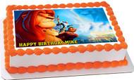 Lion King 2 Edible Birthday Cake Topper OR Cupcake Topper, Decor