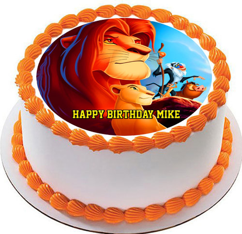 Remarkable Lion King 2 Edible Birthday Cake Topper Funny Birthday Cards Online Barepcheapnameinfo