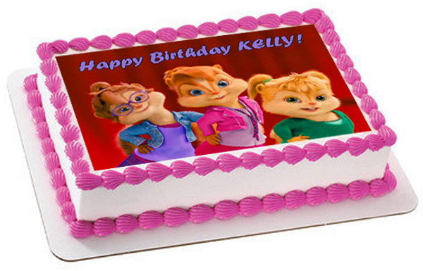 Swell Alvin And The Chipmunks Road Chip 5 Edible Birthday Cake Topper Funny Birthday Cards Online Alyptdamsfinfo
