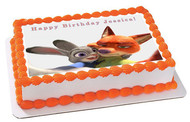 Zootopia 6 Edible Birthday Cake Topper OR Cupcake Topper, Decor