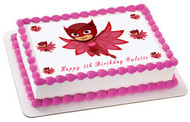 PJ Masks Owlette (Nr4) - Edible Cake Topper OR Cupcake Topper, Decor