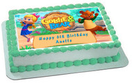 Goldie & Bear 1 Edible Birthday Cake Topper OR Cupcake Topper, Decor