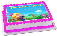 Goldie & Bear 2 Edible Birthday Cake Topper OR Cupcake Topper, Decor