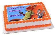 Zootopia 7 Edible Birthday Cake Topper OR Cupcake Topper, Decor