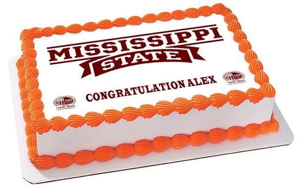 Mississippi State University Edible Birthday Cake Topper