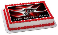 ATLANTA FALCONS 2 Edible Birthday Cake Topper OR Cupcake Topper, Decor