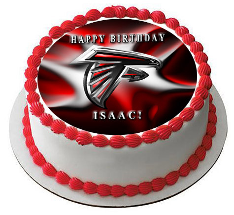 ATLANTA FALCONS 2 Edible Birthday Cake Topper