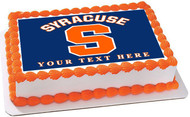 Syracuse University Edible Birthday Cake Topper OR Cupcake Topper, Decor
