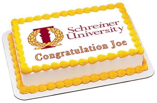 Edible Birthday Cake Topper OR Cupcake Topper Syracuse University Decor