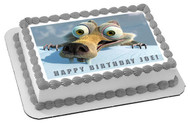 Ice Age 5 C Collision Course Edible Birthday Cake Topper OR Cupcake Topper, Decor