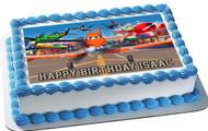Planes Edible Birthday Cake Topper OR Cupcake Topper, Decor