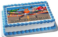 Planes Edible Birthday Cake Topper OR Cupcake Topper, Decor