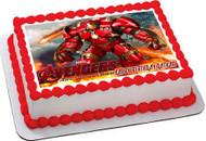 Iron Man Hulkbuster Edible Birthday Cake Topper OR Cupcake Topper, Decor