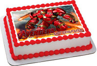 Iron Man Hulkbuster Edible Birthday Cake Topper OR Cupcake Topper, Decor