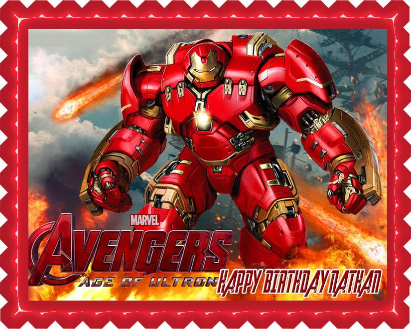 Iron Man Hulkbuster Edible Birthday Cake Topper