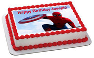Captain America 3 Civil War Edible Birthday Cake Topper OR Cupcake Topper, Decor