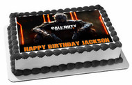 Call of Duty Ops 3 Edible Birthday Cake Topper OR Cupcake Topper, Decor