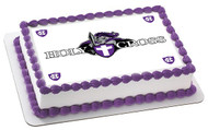 Holy Cross College Edible Birthday Cake Topper OR Cupcake Topper, Decor