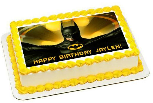 Phenomenal Batman Yellow Edible Birthday Cake Topper Personalised Birthday Cards Paralily Jamesorg