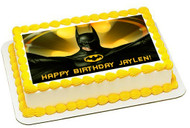 Batman Yellow Edible Birthday Cake Topper OR Cupcake Topper, Decor