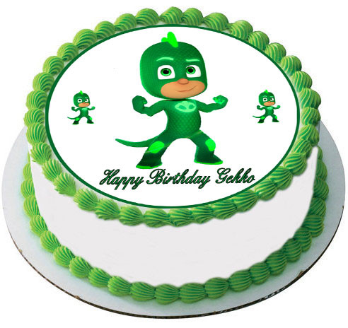 PJ Masks Gekko Edible Birthday Cake Topper