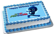 PJ Masks Night Ninja Edible Birthday Cake Topper OR Cupcake Topper, Decor