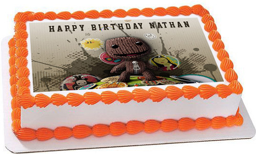 Incredible Little Big Planet Edible Birthday Cake Topper Birthday Cards Printable Riciscafe Filternl